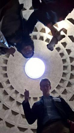 Das Pantheon mal von unten